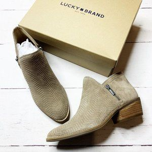 NEW! Lucky Brand Suede Booties Sz 9